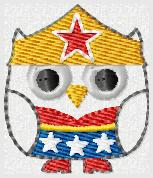 Wondergirl Owl Embroidery File
