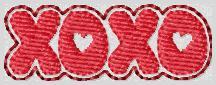 XOXO Valentine Clip Cover
