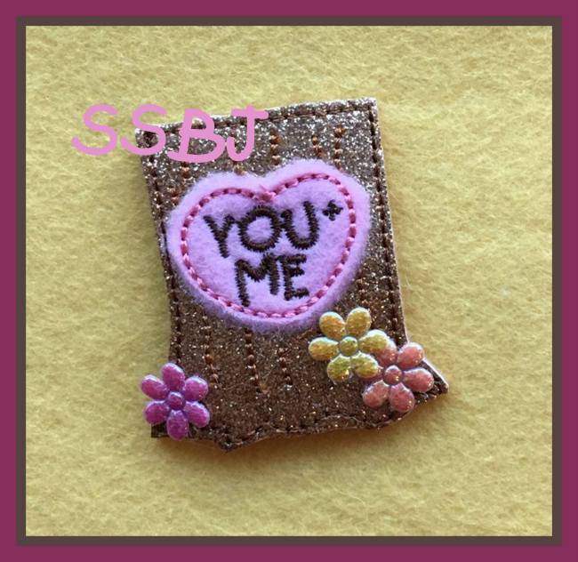 SSBJ You + Me Tree Trunk Embroidery File