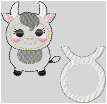 Zodiac Tarus Embroidery File