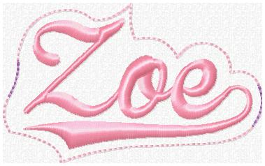 Zoe Glam Band Slider Embroidery File