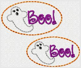 Boo Cover Embroidery File