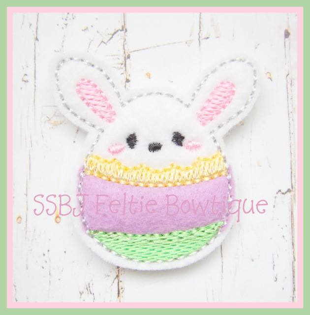 Bunny Egg Embroidery File