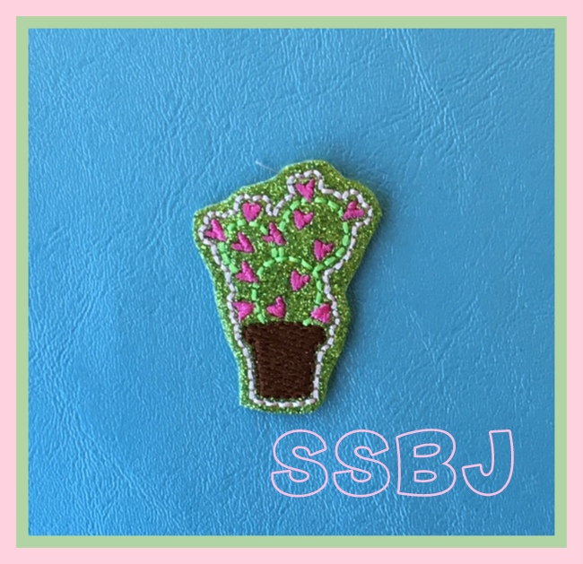 SSBJ Cactus Hearts Embroidery File