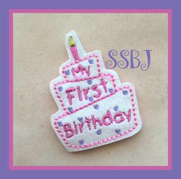 SSBJ 3 Tier BDay Cake Embroidery File