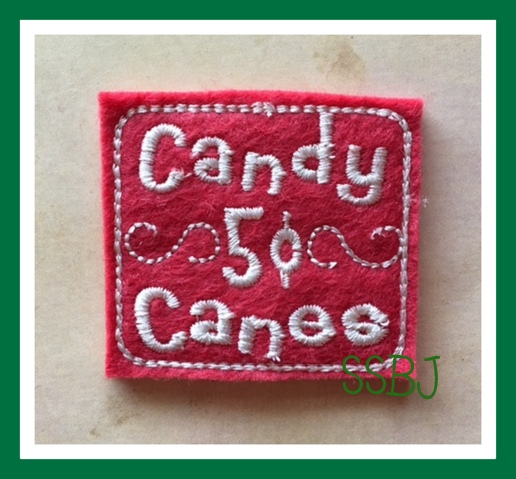 SSBJ Candy Canes  Embroidery File