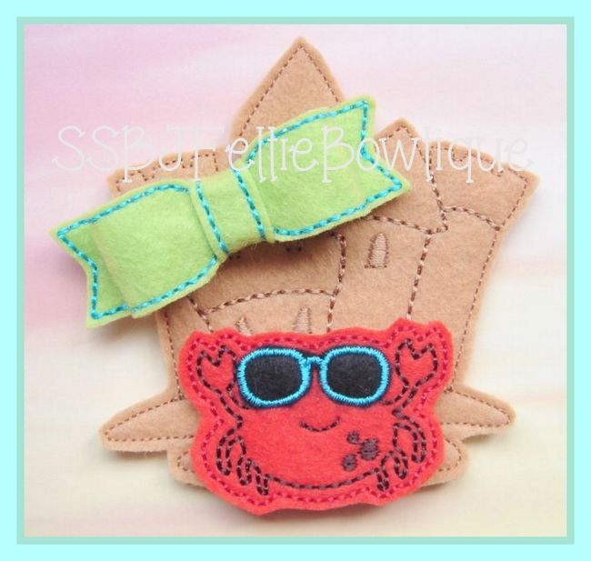 Sandcastle Bow Kit Embroidery File