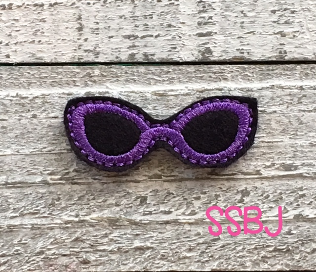 SSBJ Retro Sunglasses Embroidery File