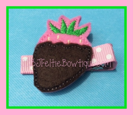 Chocolate Covered Strawberry Embroidery File