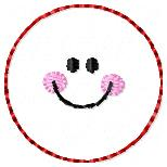 Smiley Circle Embroidery File