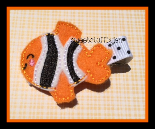 Clown Fish Embroidery File