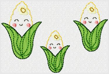 Corn Cob  Embroidery File