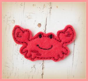 Sandy Sand Crab Embroidery File