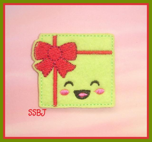 Excited Present Embroidery File