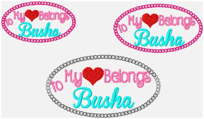 SSBJ My Heart Belongs to Busha Embroidery File