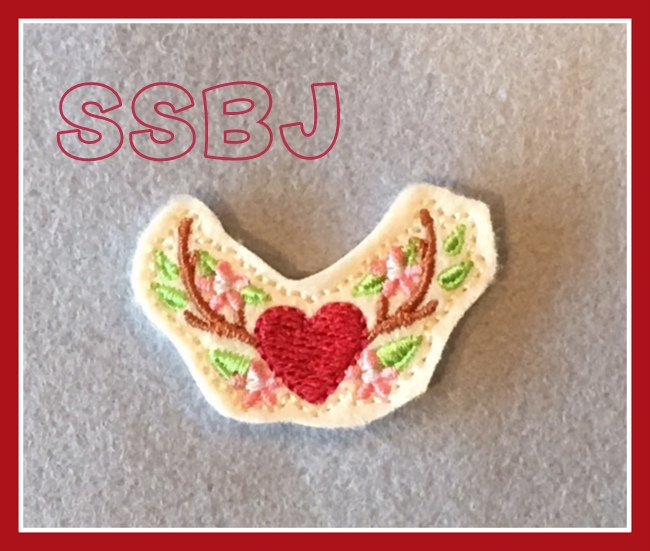 SSBJ Deer Horn Heart Embroidery File