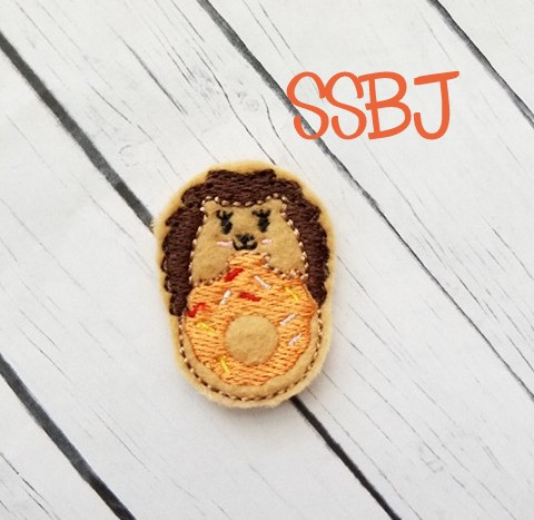 SSBJ Hedgehog Donut Embroidery File