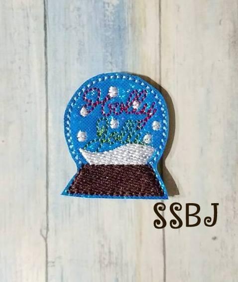 SSBJ Holly Jolly Snow Globe Embroidery File