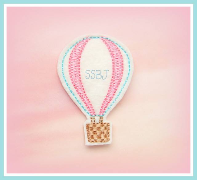 Hot Air Balloon Embroidery File