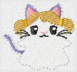 SSBJ Kitty Ghost Embroidery File