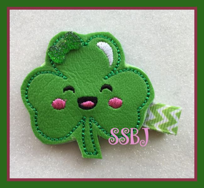 SSBJ Kutie Shamrock Embroidery File
