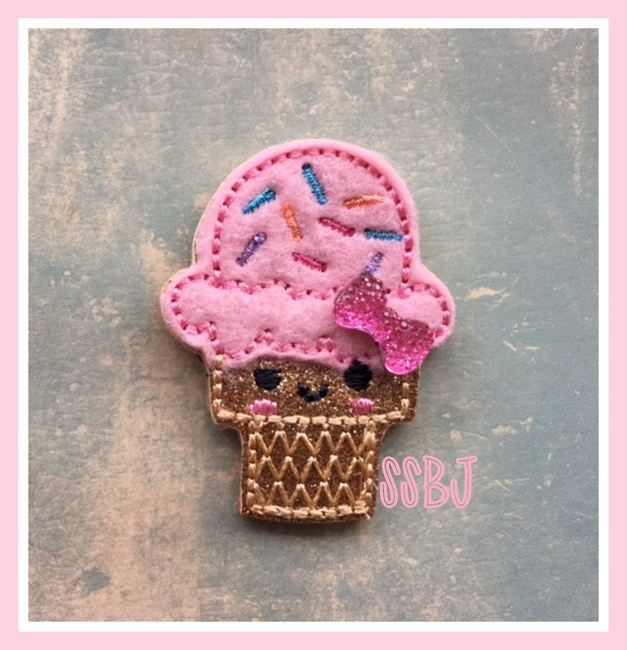 SSBJ Kutie Sprinkle Cone Embroidery File