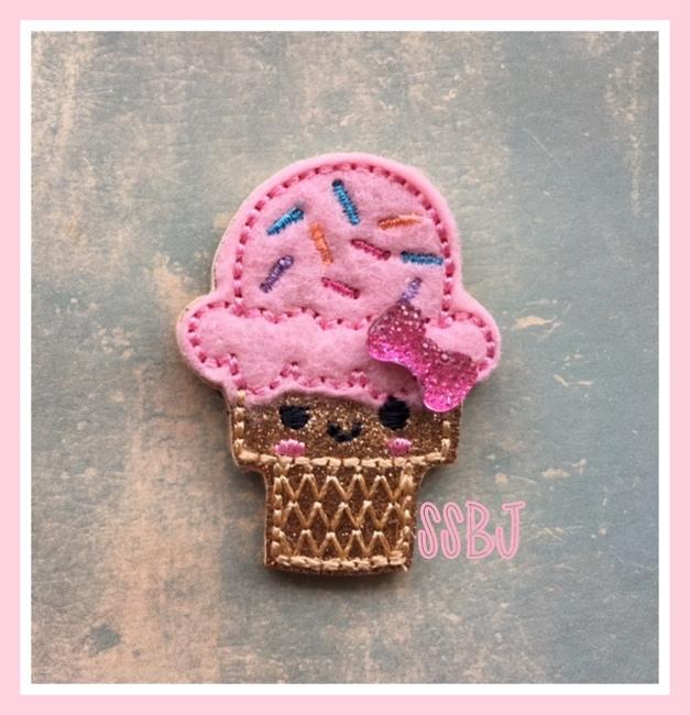 SSBJ Kutie Sprinkle Cone Embroidery File