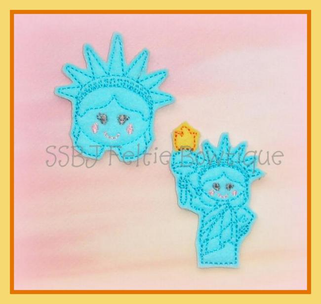 Lady Liberty Embroidery File