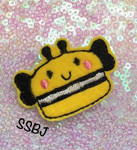 SSBJ Macaron Bee Embroidery File