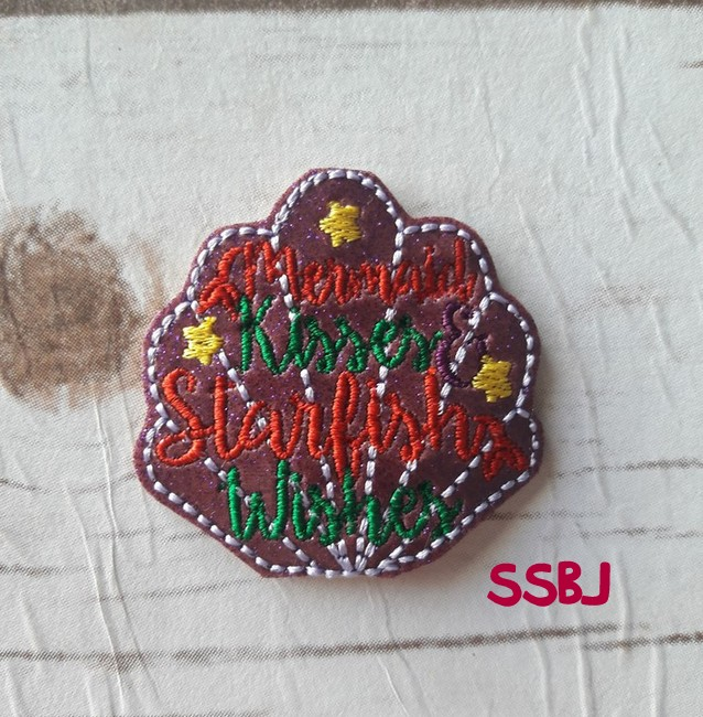 SSBJ Mermaid Kisses & Starfish Wishes Embroidery File