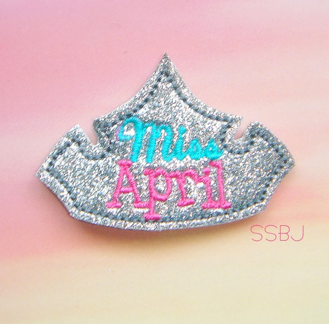Miss Months April Embroidery File