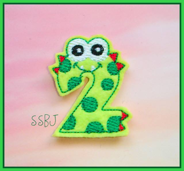 Monster Number 2 Embroidery File