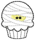 Mummy Cupcake Embroidery File