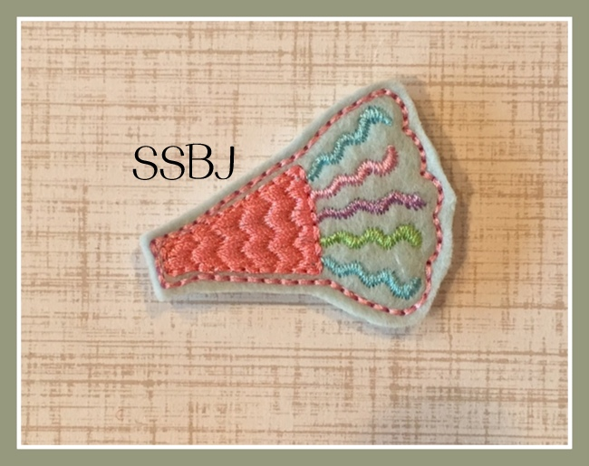 SSBJ Party Horn Embroidery File