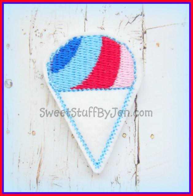 Sno Cone Embroidery File