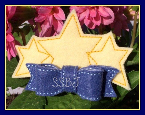 Patriotic Triple Star Embroidery File
