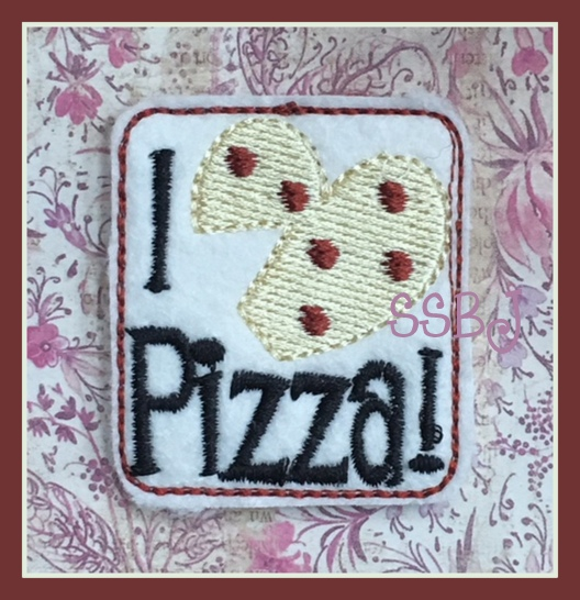 SSBJ I Love Pizza Embroidery File