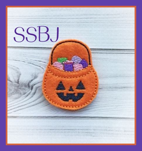 SSBJ Trick or Treat BUCKET Embroidery File