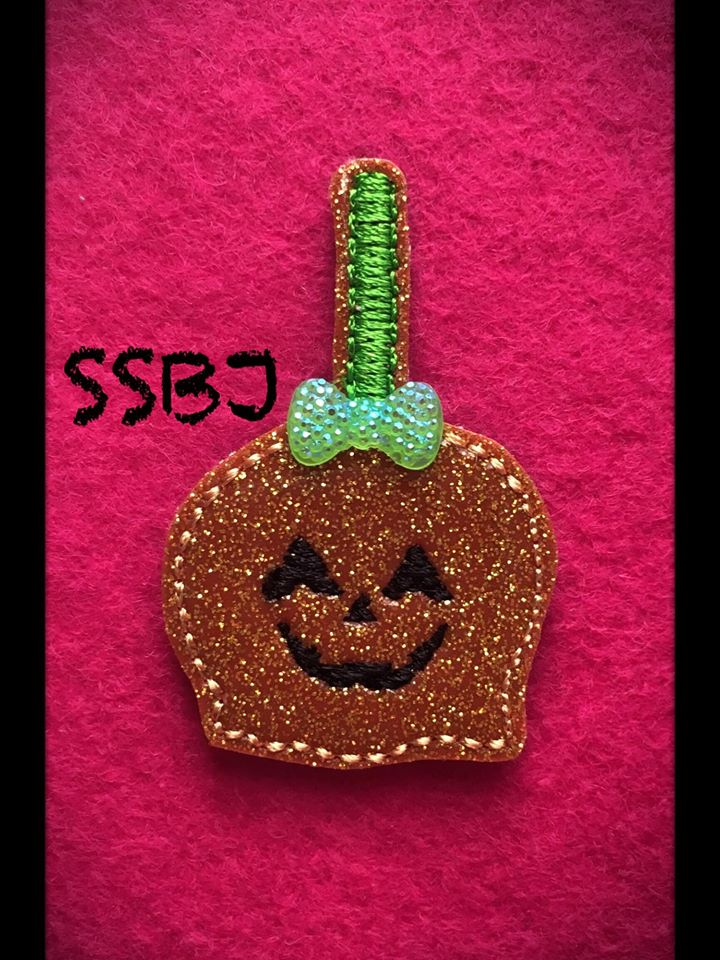 SSBJ Pumpkin Candy Apple Embroidery File
