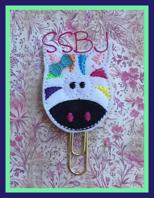 SSBJ Rainbow Zebra Embroidery File