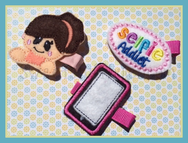 Selfie addict Set Embroidery Files