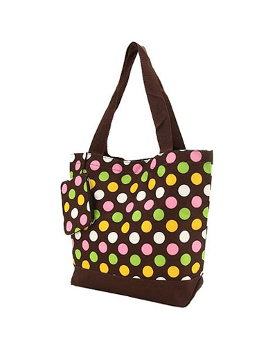 Shopping Tote-Brown Multi