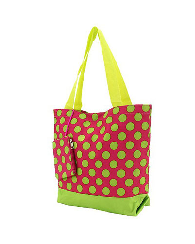 Shopping Tote-Pink & Lime