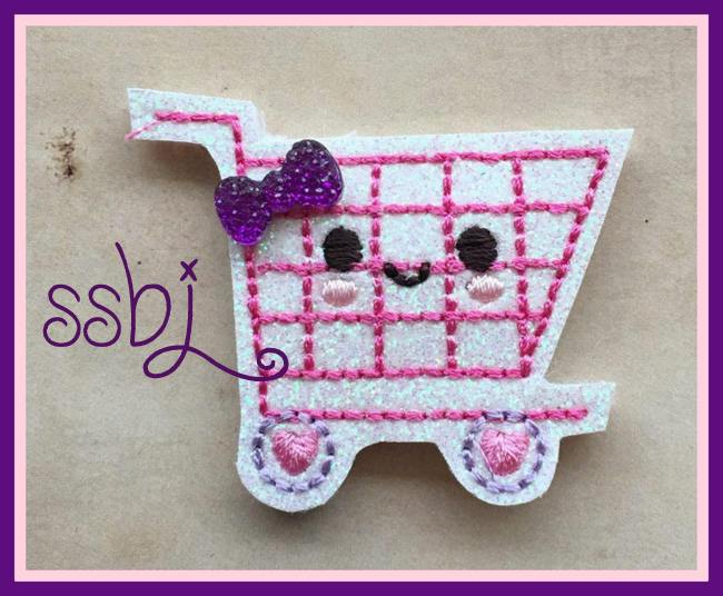 SSBJ Shopping Cart Embroidery File