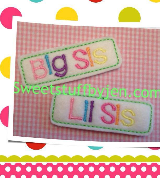 Sister Clip Cover Embroidery File