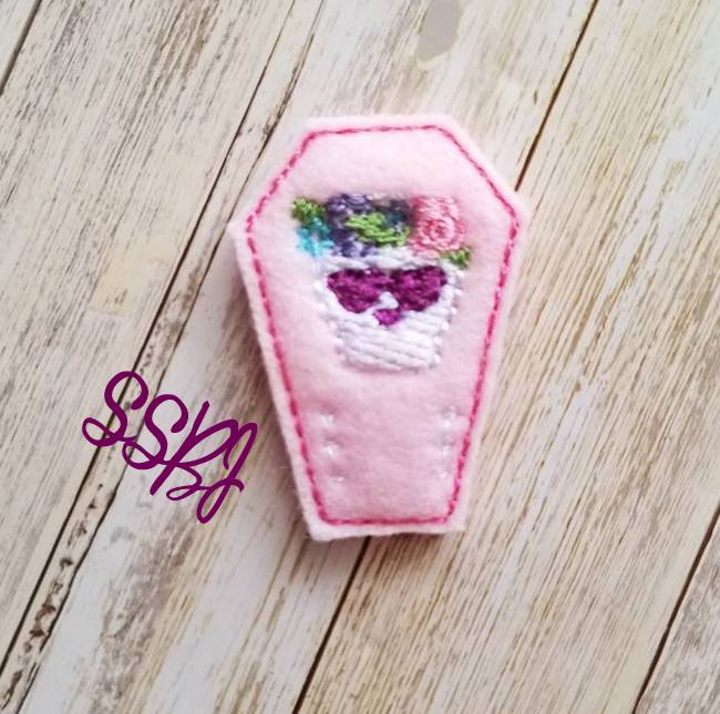 SSBJ Skull Coffin Embroidery File