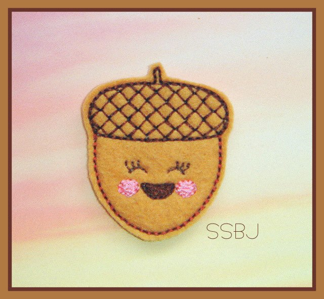 Kutie Acorn Embroidery File