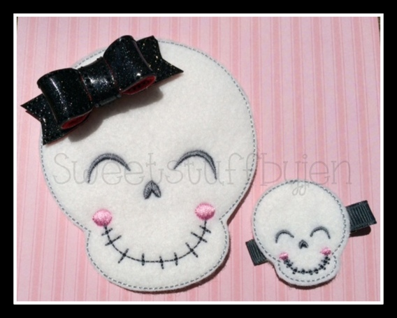 Smiley Skull Embroidery File
