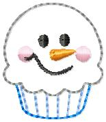 Snowman Cupcake Embroidery File