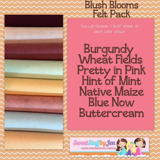 Blush Blooms Felt Pack